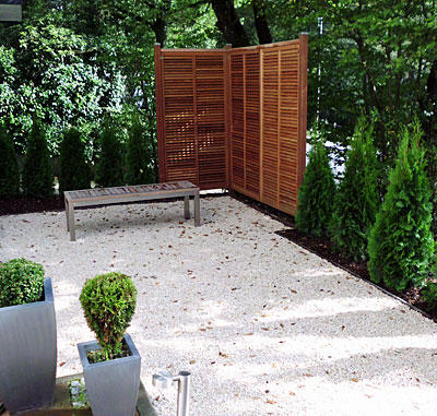 Sichtschutzzaun Holz Galabau Knof